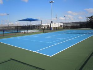 Armor Crack Repair Tennis Court job in Caruthersville, Missouri