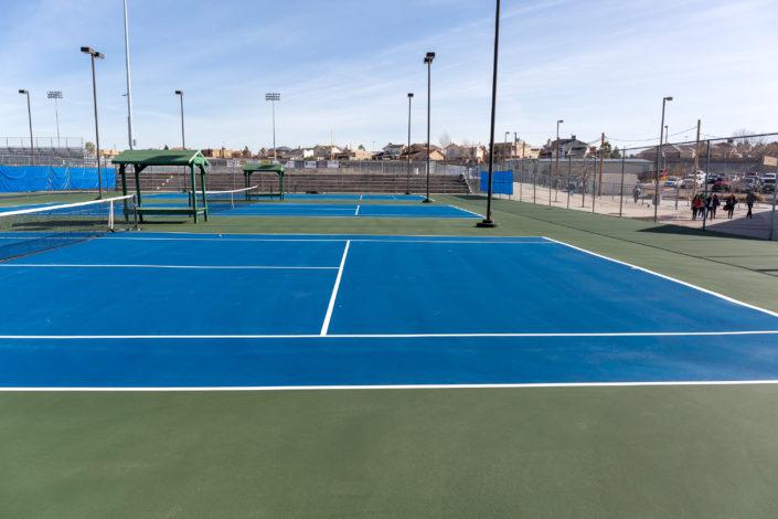 An Armor Crack Repair System repaired tennis court in El Paso, Texas