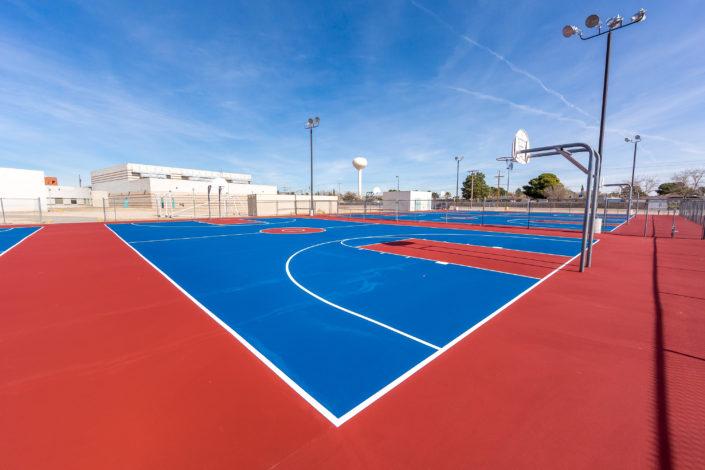 A Basketball Court Resurface in El Paso Texas