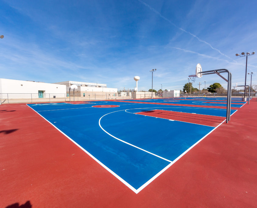 A Basketball Court Resurface in El Paso Texas