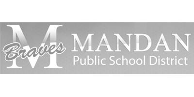 Mandan High School Track Team Logo