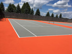 repaired tennis court in Farmingham, MN